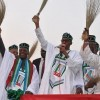 Oshiomole pelted with stones at Ogun APC rally