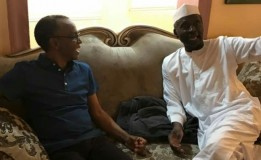 Governor El-Rufai welcomes his deputy, Arc Yusuf Bala Barnabas who just arrived Government House
