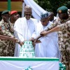 President Buhari Celebrates 57th Independence Day with Wounded Soldiers in Borno
