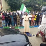 #EndSARS Protesters Hold Jummat Prayers On The Road
