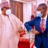 Buhari Meets New EFCC Chairman, Bawa