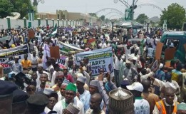 Governor Umar Ganduje Leads Thousand of Pro Buhari Supporters in Kano