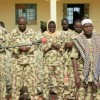 While you're enjoying your break, pray for these gallant soldiers as they marked their Sallah break in battle field