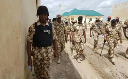 COAS Celebrates Sallah With Wounded Soldiers, Police, Community leaders and Others in Borno