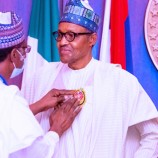 Buhari Unveils 2021 Armed Forces Remembrance Day Emblem, Urges Nigerians To Desist From Divisive Actions